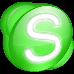 Green Skype Icon